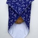 Szendvicsbatyu (kékfestő mintás), 30 x 30 cm textilszalvéta, mely kívülről pamut...