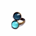 Emerald double gyűrű (malyvacukor) - Meska.hu