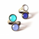 Green and blue double gyűrűk - lefoglalva, Farmerkék - mentazöld és indigókék - fehér d...