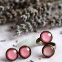 Peachy gyűrű, Barack - lazac színkombinációban készült bron...