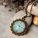 Turqoise medál , Csilla kérésére készült türkiz mintás üveg...