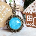 Let it snow! nyaklánc, Ékszer, Medál, Nyaklánc, Karácsonyra készültem ezzel a nagyobb méretű, feltűnő, hópehely mintás ékszerrel, mely igazi karácso..., Meska