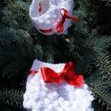 karácsonyi újszülött fotózáshoz szett, Baba-mama-gyerek, Baba-mama kellék, Karácsonyi, adventi apróságok, Karácsonyi dekoráció, Varrás, Kötés, Tündéri ünnepi újszülött fotózáshoz sapi és pelenka takaró, nagyon szép és egyedi darab. Piros szat..., Meska