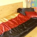 3 db-os szastén ágynemű szett - 3 színű, Otthon, lakberendezés, Dekoráció, Lakástextil, Szatén ágynemű szett  Burgundi vörös - arany - fekete  3 db-os standard méret  8.500.-Ft  Vál..., Meska