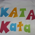 Tedd egyedivé gyermekeid ruháid - betűk - számok textilmatrica  - vasalható betűk, Dobd fel a családi ruhatárad!  Készíts 3 D dí...