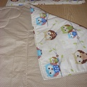 Ajándékba is - Bébi 1 fiús baba ágynemű szett design textilekből, Baba-mama-gyerek, Baba-mama kellék, Gyerekszoba, Falvédő, takaró, Szeretettel nektek  100% pamut választható anyagból takaró és párna szett  Az egyedi megrendeléseket..., Meska