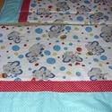 Bélelt ovis - gyerek - Elefántos - pöttyös patchwork uni ágynemű szett nagy takaróval - kiságy széles párnával, Baba-mama-gyerek, Mindenmás, Baba-mama kellék, Gyerekszoba, Szeretettel nektek  Baba látogató ajándéknak is   100% pamut bébi elefántos és pöttyös patchwork tak..., Meska