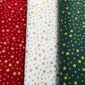 Méterben is - Karácsonyi apró mintás német design textil 70 x 30 cm - méterre is, Kiváló minőségű - egyedi tervezésű - jogvé...