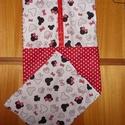 2 db-os Minnie vállfás ovis ruha- és tornazsák szett   100% ökotex pamut - sok minta, 100% design pamutvászon textil - választható te...