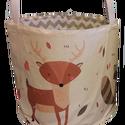 erdei állatos textil játéktároló