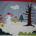Bogyó és Babóca falvédő, Baba-mama-gyerek, Gyerekszoba, Falvédő, takaró, Kisunokáimnak varrtam Karácsonyra 170 x 75 cm-es méretben zömmel kézi munkával és nagy szeret..., Meska