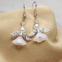 Fehér angyal fülbevaló/Angel earrings, A fehér angyal medál párja ez a kedves kis fül...