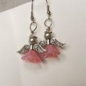 Angyal fülbevaló/Angel earrings, A rózsaszín angyal medál párja ez a kedves kis...