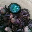 Mandala kő, Dekoráció, Otthon, lakberendezés, Asztaldísz, Kerti dísz, Festett tárgyak, 6,5 cm-es kézzel, pöttyöző technikával készült mandala kő Ajánlom: - szobába dekor elemként, - kült..., Meska