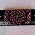 Mandala tolltartó ajándék, Kézzel festett, lakkozott fa tolltartó 2.500 Ft,...