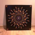Kézzel festett mandala kép, 30x30 cmes, 3mmes fa lapra, akrillal kézzel feste...