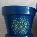 Mandala virágcserép , Vidám színfolt, egyedi, kézzel festett mandala ...