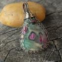 Ruby fuchsite ezüst medál - 925-ös ezüst, Ruby fuchsite ezüst medál. Egyedi minta alapján...