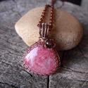 Rodokrozit réz nyaklánc, Meleg rózsaszín színével nálam is hódit a ro...