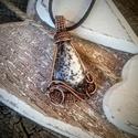 Mákvirág - merlinit réz nyaklánc, Szépséges merlinitet foglaltam be, kedves szeret...