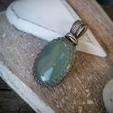 Sea - aqua calcedony ezüst medál - 925-ös ezüst, Ékszer, Medál, Gyönyörűséges tenger színét idéző ásványból készítette egyszerű ezüstmedált. Szinte érzem a tenger l..., Meska