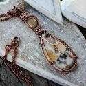 Őszi napsütés - réz nyaklánc, Ékszer, Nyaklánc, Igazán őszi színekbe burkolózott ez a jáspis, citrin ásványból álló nyaklánc. Igazán feltűnő darab k..., Meska
