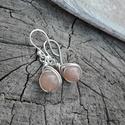 Napkő ezüst fülbevaló, Ékszer, Fülbevaló, Szépséges napkőből készült ezüst fülbevaló. Minden része 925-ös ezüstből készült.  Alkalmi és hétköz..., Meska