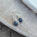 Kianit rózsa ezüst fülbevaló, Kedvenc kék kövemből a kianitból készült ez ...
