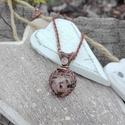 Szerelmes szív réz nyaklánc, Ékszer, Nyaklánc, Szív alakú ásványból készült réz nyaklánc, mely különleges karácsonyi ajándék lehet nőknek, kislányo..., Meska