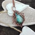 Hullámok - labradorit réz nyaklánc, Szuper kék színű labrdoritból készült csodá...