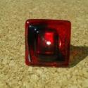 """Az """"örök"""" piros-fekete gyűrű, Ékszer, Nyaklánc, Medál, Gyűrű, Spektrum üvegből üvegolvasztással készült gyűrű. Mérete: 2.5x2.4 cm, állítható alapon.  Postázás bub..., Meska"""