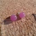 Rózsabogyó  füli, Ékszer, Fülbevaló, Üvegolvasztással készült füli, melyhez  üvegrudat használtam fel.    Átmérő: ca. 0,7 cm.  ..., Meska