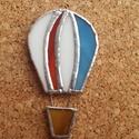 Hőlégballon hűtőmágnes, Dekoráció, Otthon, lakberendezés, Dísz, Rézfóliás technikával (tiffany) készült hőlégballon hűtőmágnes. Méret: 8,5 x 4 cm  Postázás buboréko..., Meska
