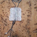 Irizáló jégmedál, Ékszer, Nyaklánc, Medál, Ékszerkészítés, Üvegművészet, Üvegolvasztással készült medál, melyhez spectrum üveget használtam fel.  Medál mérete 3.2x4 cm, biz..., Meska