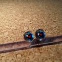 Szivecskék füli, Ékszer, Fülbevaló, Üvegolvasztással készült fülbevaló, melyhez moretti  üveget és millefiori gyöngyöt haszná..., Meska