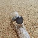 Szürke gyűrű, Ékszer, Gyűrű, Olvasztásos technikával készített gyűrű, állítható  alapon.   Postázás védett dobozban., Meska
