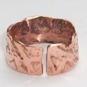Maratott vörösréz gyűrű I., Kívül-belül maratott vörösréz gyűrű - rán...
