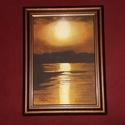 Naplemente (akril, vászon), Otthon & lakás, Képzőművészet, Festmény, Akril, Festészet, Akril festmény 27 x 36 cm kerettel együtt.  Egy fénykép adta az inspirációt, amelyben a színek tets..., Meska