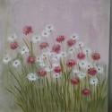 Tavasz, Dekoráció, Képzőművészet, Kép, Festmény, 50cmx50cm feszített vászonra készült alkotás. Akrilfestékkel festettem,vegyes technikát alkalmaztam...., Meska