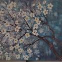 Virágzó fa, Dekoráció, Képzőművészet, Kép, Festmény, 70cmx100cm feszített vászonra készült alkotás. Akrilfestékkel festettem,vegyes technikát alkalmaztam..., Meska