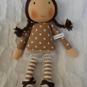 Luca baba, Játék, Luca baba teljes egészében kézzel varrott,saját tervezésű textilbaba. 30cm,szemét,száját hímeztem,te..., Meska