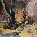 Gyökerek, Esküvő, Dekoráció, Képzőművészet, Otthon, lakberendezés, Festészet, A festmény olajfestékkel, vászonra készült. Mérete: 50x50 cm. A képet keret nélkül szállítom. (Felá..., Meska