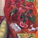 Névnapomon olajfestmény, Dekoráció, Képzőművészet, Otthon, lakberendezés, Karácsonyi, adventi apróságok, Festészet, A festmény olajfestékkel, vászonra készült. Mérete: 50x40 cm. A képet keret nélkül szállítom. (Felá..., Meska