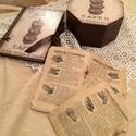 Csokis doboz, receptes füzet szettben., Konyhafelszerelés, Otthon, lakberendezés, Receptfüzet, Tárolóeszköz, Különleges nyolcszögletű csokis dobozt és receptes füzetet készítettem rendelésre. Kérhető más színb..., Meska