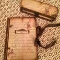 Rózsás napló és tolltartó szettben., Naptár, képeslap, album, Jegyzetfüzet, napló, Nagyon hangulatos, finom rózsás minta került erre a füzetre és tolltartóra. Rendelésre készítettem. ..., Meska