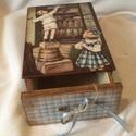 Fiókos csokis doboz., Dekoráció, Konyhafelszerelés, Otthon, lakberendezés, Tárolóeszköz, Karácsonyig nem készül el!  Rendelésre készült ez a fiókos csokis doboz, de más mintával konyhai tár..., Meska