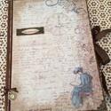Emlékkönyv, nosztalgikus mintával., Naptár, képeslap, album, Jegyzetfüzet, napló, Rendelésre készítettem ezt az emlékkönyvet.  A4-es méret 50 lapos. Ballagási ajándék, de más alkalom..., Meska