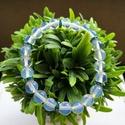 Opalit gyöngy karkötő!, Ékszer, Karkötő, Opalit gyöngy karkötők türkiz színű strassz rondellákkal. Hossza: 17,5 és 18 cm. Erős gumi ..., Meska