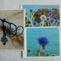 3 kinyitható képeslap saját fotókkal - virágok a tengerparton, kovácsoltvas korlát, Képzőművészet, Naptár, képeslap, album, Fotográfia, Képeslap, levélpapír, Fotó, grafika, rajz, illusztráció, Papírművészet, Ha gondolataidat, jókívánságaidat hagyományos módon, papírból készült egyedi képeslapra szeretnéd í..., Meska