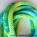 Tavitündér - pamut ékszergarnitúra, A tavitündér kedvenc színeiből: a zöld és a ...
